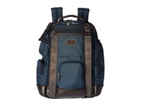 Tumi Alpha Bravo Shaw Deluxe Brief Pack Navy Briefcase Bags