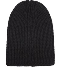 The Kooples Ribbed Merino Wool Beanie Bla01