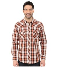 Rock And Roll Cowboy Long Sleeve Snap B2s5433 Brown Men's Long Sleeve Button Up