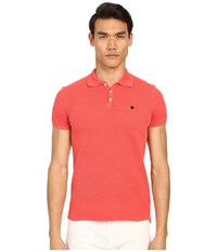 Dsquared Classic Fit Preppy Polo Red