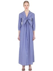Sara Roka Cotton Poplin Shirt Dress With Ties