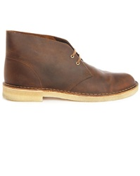 Clarks Gras Brown Leather Desert Boots