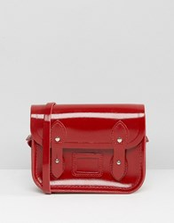 Cambridge Satchel Company The Micro Leather Bag In Patent Red