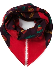 Givenchy Vintage Glove Print Scarf Red