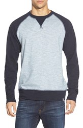 The North Face Men's 'Copperwood' Raglan Crewneck Shirt Cosmic Blue Cool Blue