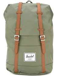 Herschel Supply Co. Buckle Strap Backpack Green