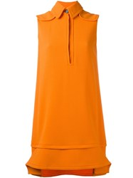 Victoria Beckham Collared Mini Dress Yellow And Orange