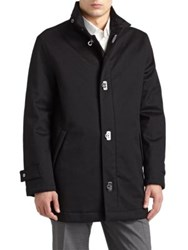 Salvatore Ferragamo Wool Cashmere Car Coat Black