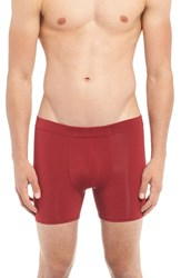 Naked Men's 'Luxury' Micromodal Boxer Briefs Jungle Red