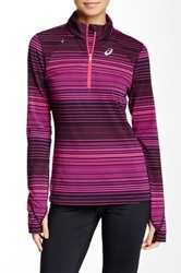 Asics Striped Pullover Pink