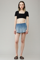 Haal Emma Mini Circle Skirt Denim Blue
