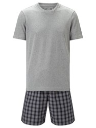 John Lewis Rhinefeld T Shirt And Check Shorts Lounge Set