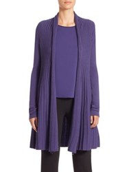 Armani Collezioni Raised Cable Knit Cardigan Imperial Purple