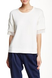 Derek Lam Short Sleeve Crew Neck Shirt White