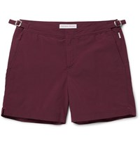Orlebar Brown Bulldog Mid Length Swim Shorts Burgundy