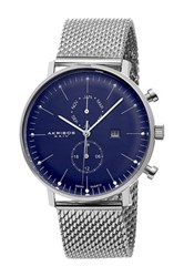 Akribos Xxiv Men's Swiss Quartz Stainless Steel Mesh Bracelet Watch Metallic
