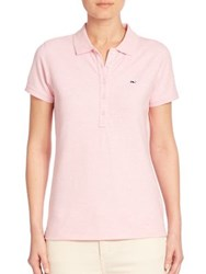 Vineyard Vines Heathered Polo Shirt Grey Heather Pink Lavender