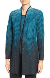 Ming Wang Women's Long Jacquard Knit Jacket