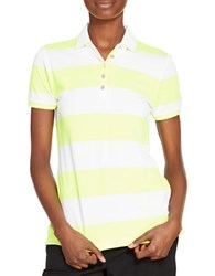 Lauren Ralph Lauren Petite Striped Polo Shirt Yellow White