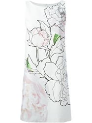 Paule Ka Flower Print Dress White
