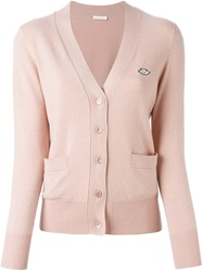 See By Chloe V Neck Cardigan Pink And Purple