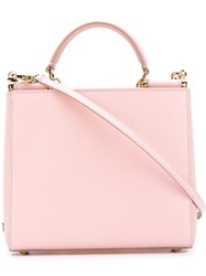 Dolce And Gabbana 'Sicily' Shopping Tote Pink And Purple