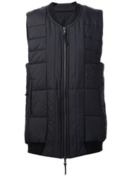 11 By Boris Bidjan Saberi Quilted Zipped Vest Black