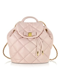 Salvatore Ferragamo Giuliette Quilted Nappa Leather Backpack Macaron