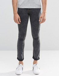 Another Influence Super Skinny Acid Wash Jeans Black