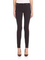 Burberry Contrast Piping Skinny Jeans Black