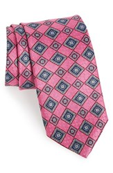 J.Z. Richards Men's Geometric Silk Tie Pink