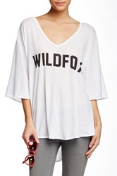 Wildfox Couture Classic Fox Tahiti Tunic White