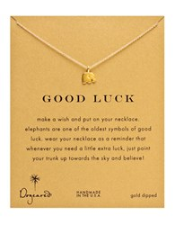 Dogeared Gold Elephant Charm Necklace