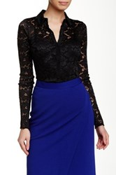 Yoana Baraschi Lace Blouse Black