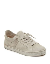 Dolce Vita Zalen Suede Lace Up Sneakers Ivory