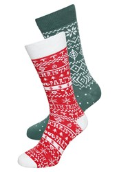 Your Turn 2 Pack Socks Red Green