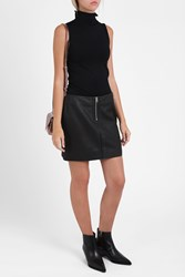 Acne Studios Franca Leather Skirt Black