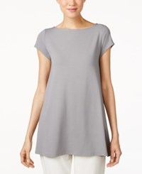 Eileen Fisher Boat Neck Tunic Pewter