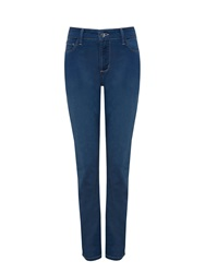 Nydj Jegging In Dark Blue Lightweight Denim Denim Faded