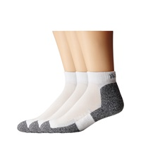 Thorlos Lite Running Mini Crew 3 Pair Pack White Black Women's Quarter Length Socks Shoes