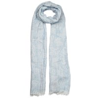 Dents Ladies Butterfly Design Woven Scarf Sky
