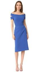 Zac Posen Off The Shoulder Dress Blue