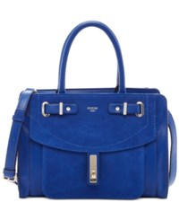 Guess Kingsley Small Satchel Cobalt
