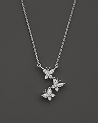 Bloomingdale's Diamond Butterfly Pendant Necklace In 14K White Gold .30 Ct. T.W.