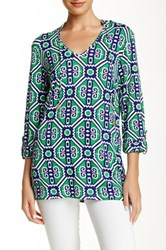 Macbeth Collection Printed Hooded Tunic Multi