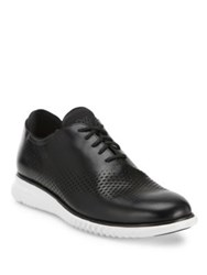 Cole Haan Perforated Leather Oxfords Black