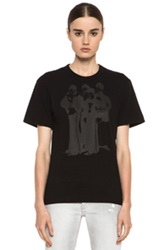 The Beatles X Comme Des Garcons Band Cotton Tee In Black