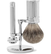 Baxter Of California Three Piece Shaving Set Silver