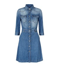 7 For All Mankind Denim Dress Female Blue