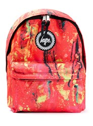 Topman Hype Canvas Backpack Red